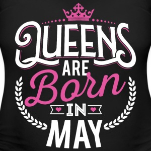 Born Birthday Bday Queens May T-Shirts - Women's Maternity T-Shirt