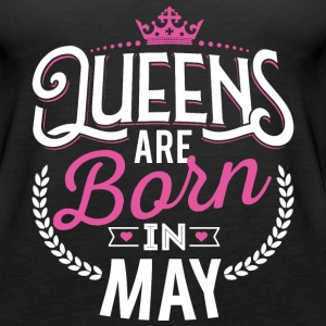 Born Birthday Bday Queens May Tanks - Women's Premium Tank Top