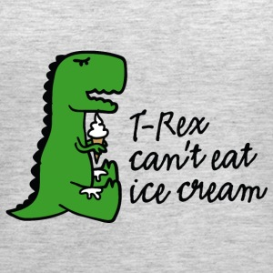 T-rex can't eat ice cream Tanks - Women's Premium Tank Top