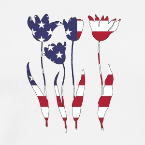 American Flag - Tulips - Men's Premium T-Shirt
