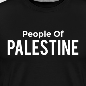 people of palestine white text T-Shirts - Men's Premium T-Shirt