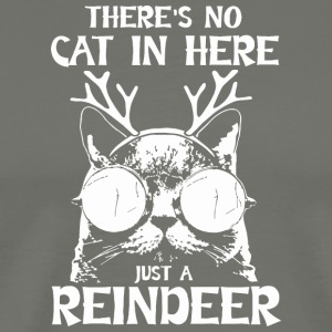 Cat Reindeer Gift Fun - Men's Premium T-Shirt