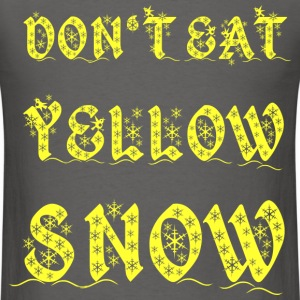 yellow snow T-Shirts - Men's T-Shirt