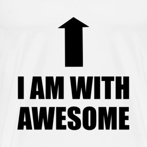Im With Awesome - Men's Premium T-Shirt