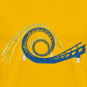 Roller Coaster Tracks - Men's Premium T-Shirt