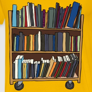 Library Book Cart - Men's Premium T-Shirt