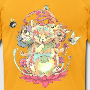 Contraption Brahma Neko T-Shirts - Men's T-Shirt by American Apparel