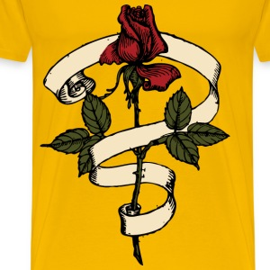 Rose Scroll - Men's Premium T-Shirt