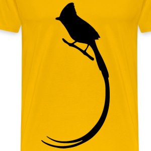 Long Tailed Bird Silhouette - Men's Premium T-Shirt