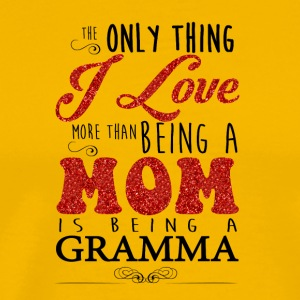 Love Being Mom And Grandma Shirt - Men's Premium T-Shirt