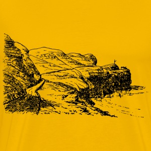 Headland scene - Men's Premium T-Shirt