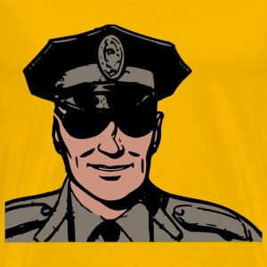 Police in sunglasses - Men's Premium T-Shirt