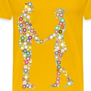 Prismatic Circles Couple Silhouette 6 3 - Men's Premium T-Shirt