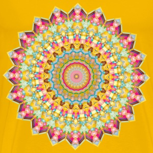 Kaleidoscopic Mandala 4 No Backgorund - Men's Premium T-Shirt
