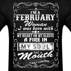 I'm A February Woman T-Shirts - Men's T-Shirt