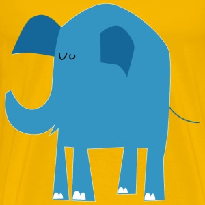 blue elephant without text - Men's Premium T-Shirt
