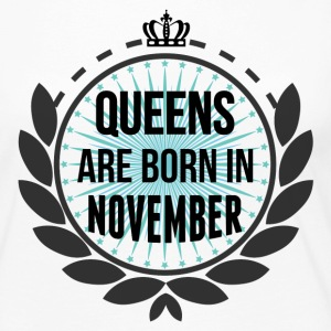 Queens Are Born In November Long Sleeve Shirts - Women's Premium Long Sleeve T-Shirt