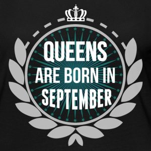 QUEENS ARE BORN IN SEPTEMBER Long Sleeve Shirts - Women's Premium Long Sleeve T-Shirt