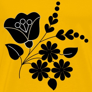 Flower ornament folk art remix - Men's Premium T-Shirt
