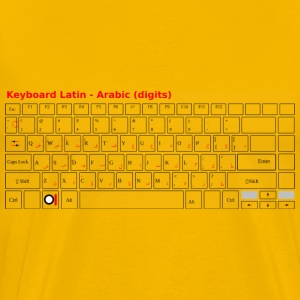 Keyboard Laptop Arabic - Men's Premium T-Shirt
