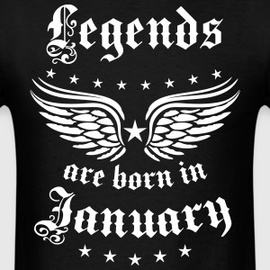 Legends are born in January birthday Vintage Stars - Men's T-Shirt