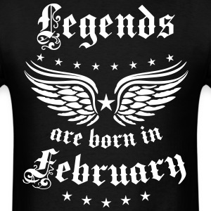 Legends are born in February birthday Vintage Star - Men's T-Shirt