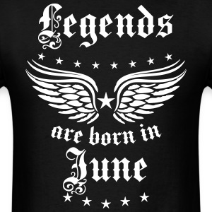 Legends are born in June birthday Vintage Stars se - Men's T-Shirt