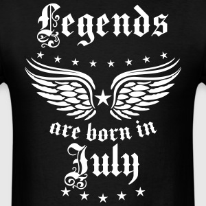 Legends are born in July birthday Vintage Star Tee - Men's T-Shirt