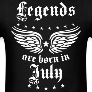 Legends are born in July birthday Vintage Stars se - Men's T-Shirt