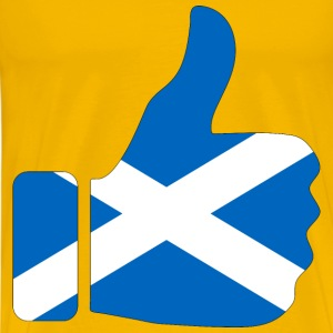 Thumbs Up Scotland With Stroke - Men's Premium T-Shirt