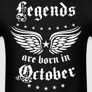 Legends are born in October birthday Vintage Stars - Men's T-Shirt