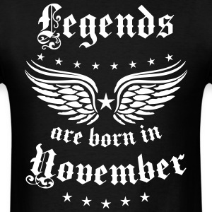 Legends are born in November birthday Vintage Star - Men's T-Shirt