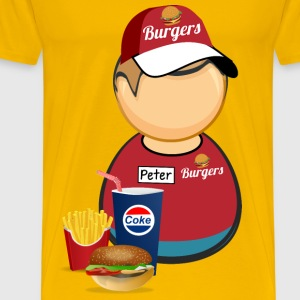 Fastfood worker - Men's Premium T-Shirt