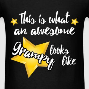 Grampy - This is what an awesome Grampy looks like - Men's T-Shirt