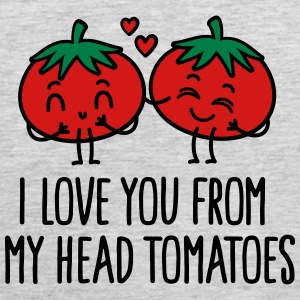I love you from my head tomatoes Sportswear - Men's Premium Tank