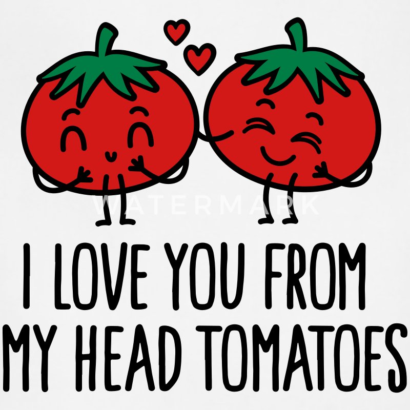 I love you from my head tomatoes Aprons - Adjustable Apron