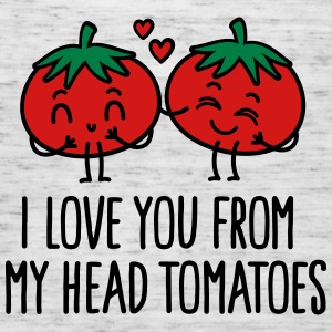 I love you from my head tomatoes Tanks - Women's Flowy Tank Top by Bella