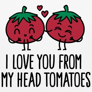 I love you from my head tomatoes Other - Mouse pad Horizontal