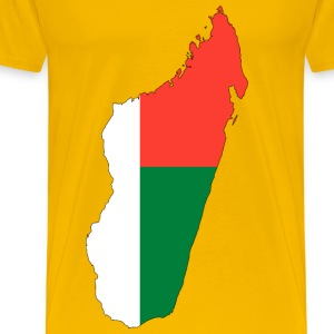Madagascar Flag Map With Stroke - Men's Premium T-Shirt