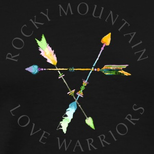 Rocky Mountain Love Warriors - Greys - Men's Premium T-Shirt
