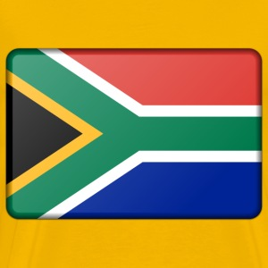 South Africa flag (bevelled) - Men's Premium T-Shirt