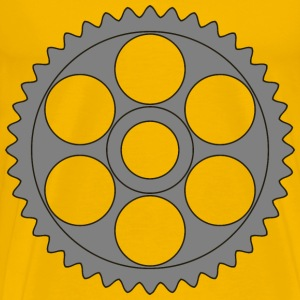 40tooth gear with circular holes - Men's Premium T-Shirt