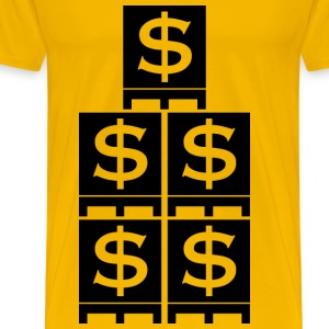 Pallet with dollar signs - Men's Premium T-Shirt