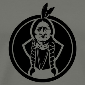 Sitting Bull US Native - Men's Premium T-Shirt