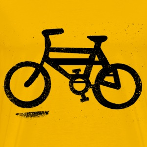 Bicycle Sign on Road - Men's Premium T-Shirt