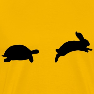 tortoise and hare, fast and slow - Men's Premium T-Shirt