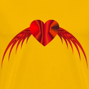 Flying Heart 5 - Men's Premium T-Shirt