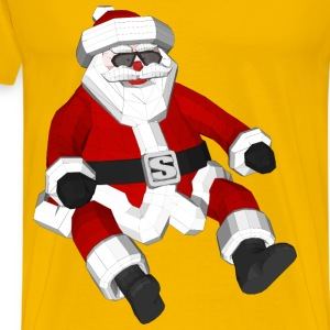 3D Polygonal Santa Claus - Men's Premium T-Shirt