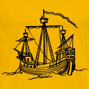 15th century ship - Men's Premium T-Shirt