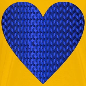 Colorful Heart Lattice Weave 9 - Men's Premium T-Shirt